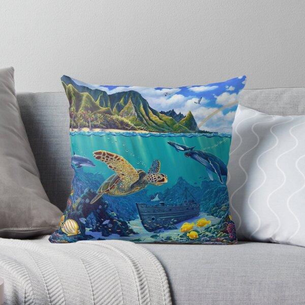 Bali Hai Reef Throw Pillow