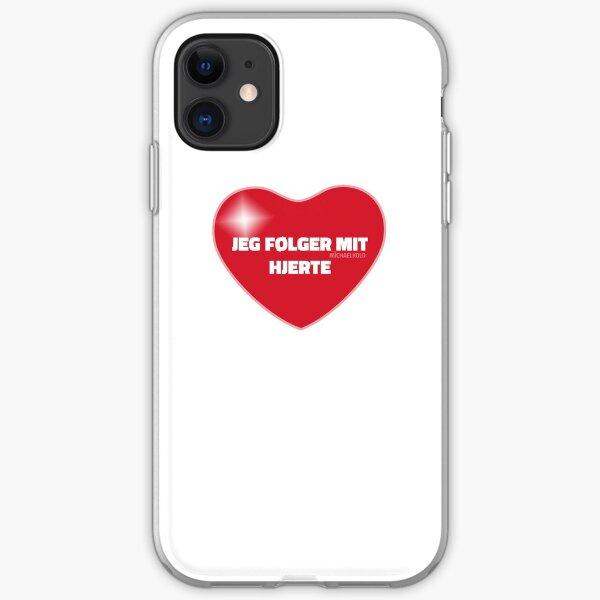 Jeg følger mit hjerte (Red) iPhone Soft Case