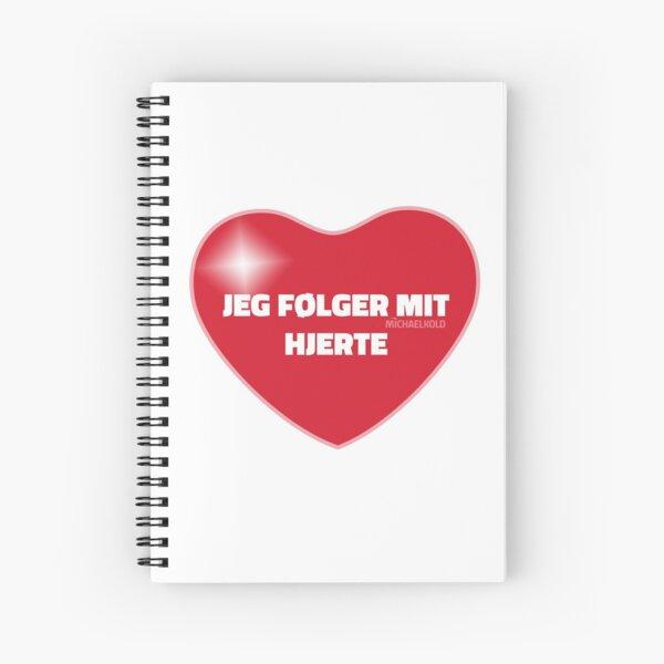 Jeg følger mit hjerte (Red) Spiral Notebook