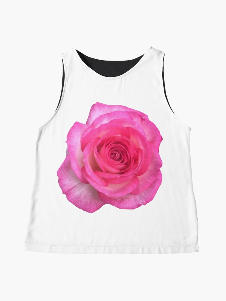Alternate view of Pink White Rose floral Beauty Sleeveless Top