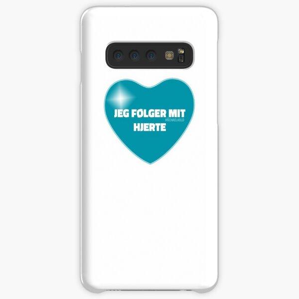 Jeg følger mit hjerte (Blue) Samsung Galaxy Snap Case