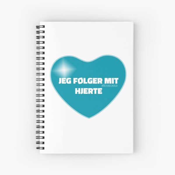 Jeg følger mit hjerte (Blue) Spiral Notebook