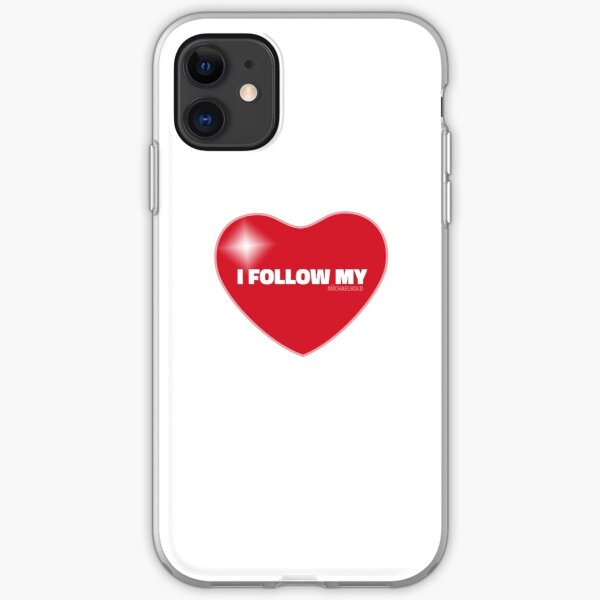 I Follow My ❤ (Red) iPhone Soft Case