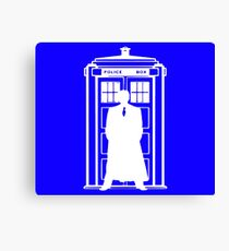 The Doctor and the Tardis Canvas Print