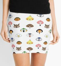 LOVE BIRDS pattern Mini Skirt