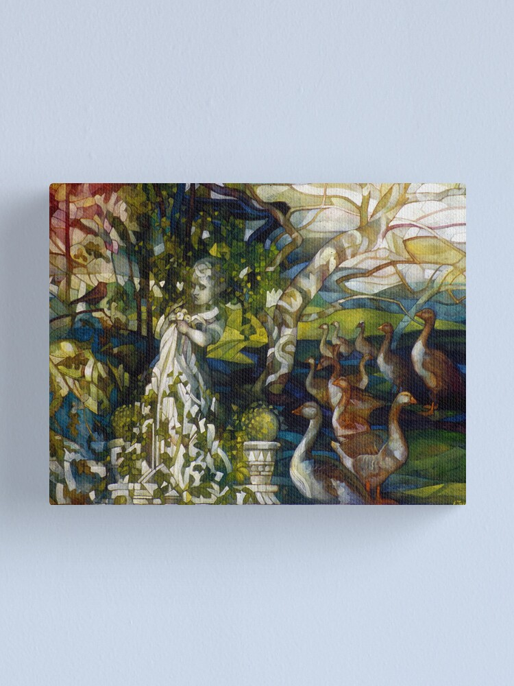 Alternate view of the marble faun: Canvas Print