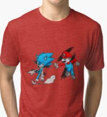 Mario Vs Sonic Tri-blend T-Shirt