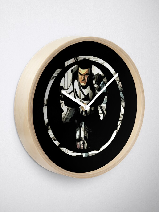 Alternate view of superhero Clock