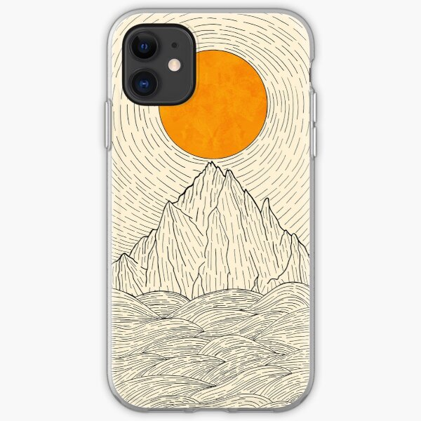 The sun over the mountain waves iPhone Soft Case