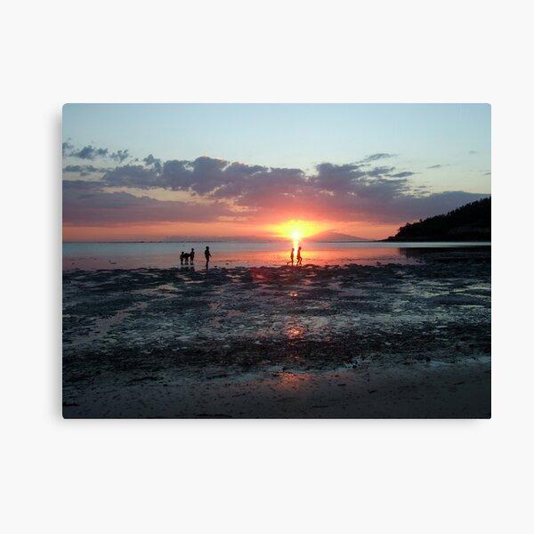 Sunset at Christo Rei by Richard Jones Canvas Print
