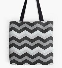 Beautiful Cushions/Chevron/ Grey and White Tote Bag