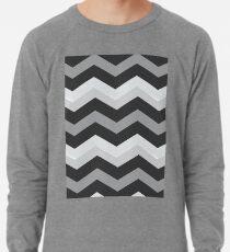 Beautiful Cushions/Chevron/ Grey and White Lightweight Sweatshirt