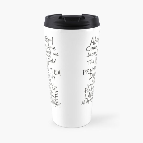 Nirvana Unplugged Set List [BLACK TEXT] Travel Mug