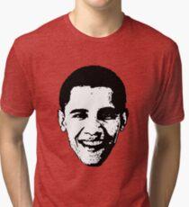 Barack Obama Black and White  Tri-blend T-Shirt