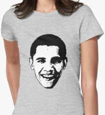 Barack Obama Black and White  Women's Fitted T-Shirt