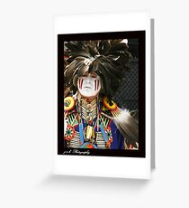 Warrior Brave Greeting Card