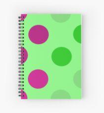 Apple Green Multi Spot Spiral Notebook