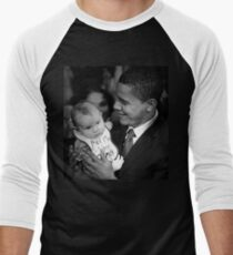 Obama Mama Men's Baseball ¾ T-Shirt