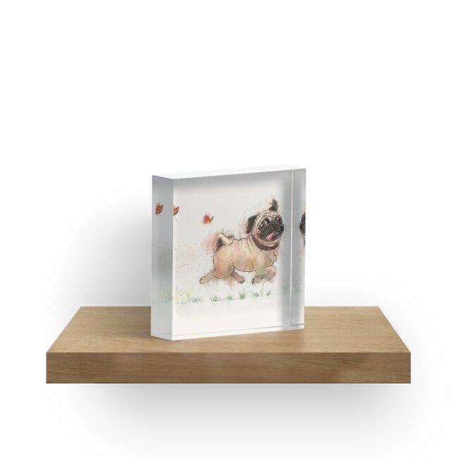 «El diseño de acuarela de Furminator Pug en color beige» de Thubakabra