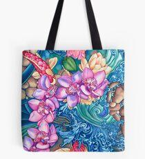 Orchid Splash Tote Bag