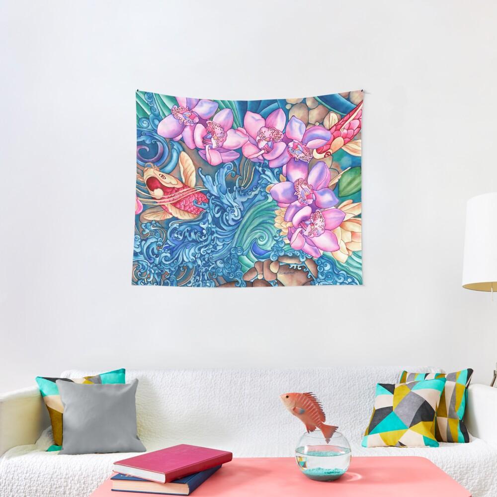 Orchid Splash Tapestry