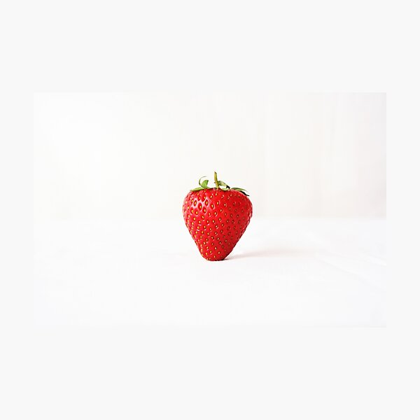 One Red Strawberry Photographic Print