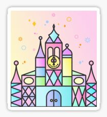 It's a Small World After All Colourful Castle Sticker