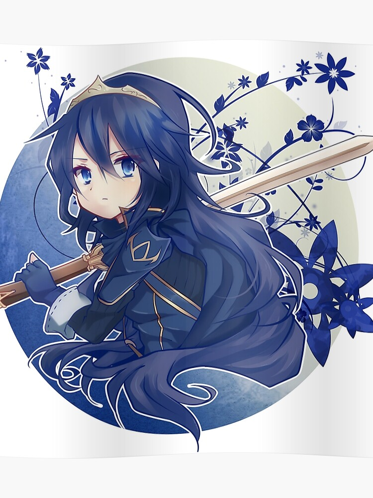Lucina Fire Emblem Poster By Fitzlav Redbubble