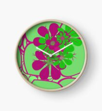 APPLE GREEN LEAFY Clock