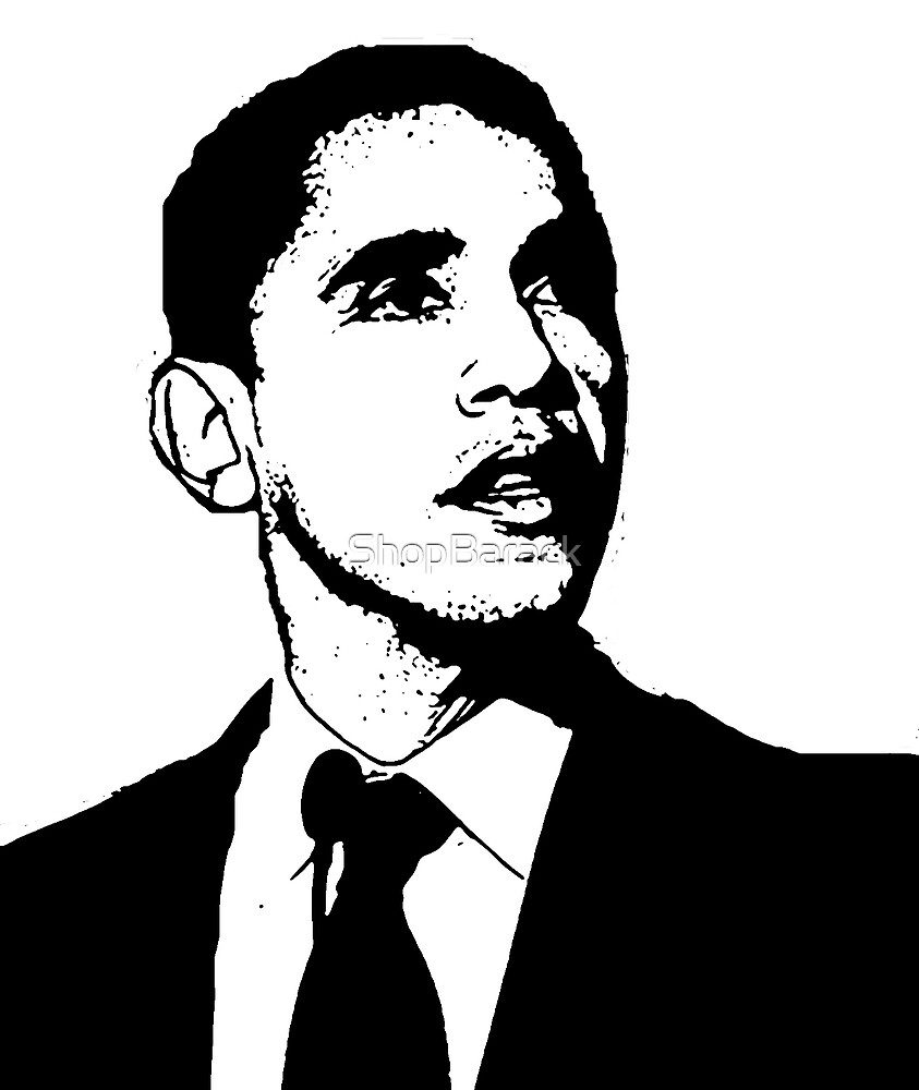 Barack obama black and white