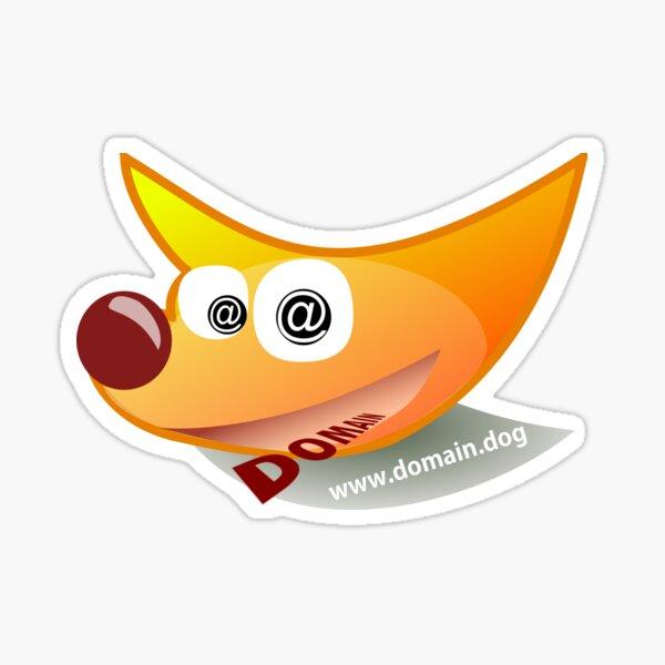 Domain.Dog Logo Sticker
