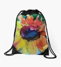 Asteraceae Drawstring Bag