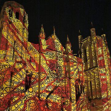 11 illuminations Cathédrale de Poitiers Par kolektifalambik.net - Photos  panasonic fz 2000 par Okaio Créations by caillaudolivier