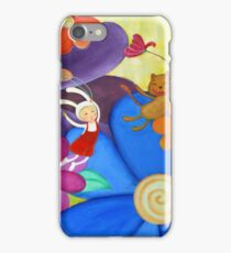 Child and a Cat in an Adventure  iPhone Case/Skin