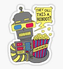 Robot Movie Reboot Sticker