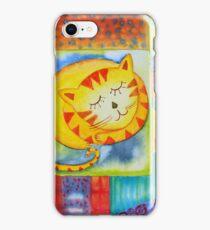 Cat in a Garden  iPhone Case/Skin