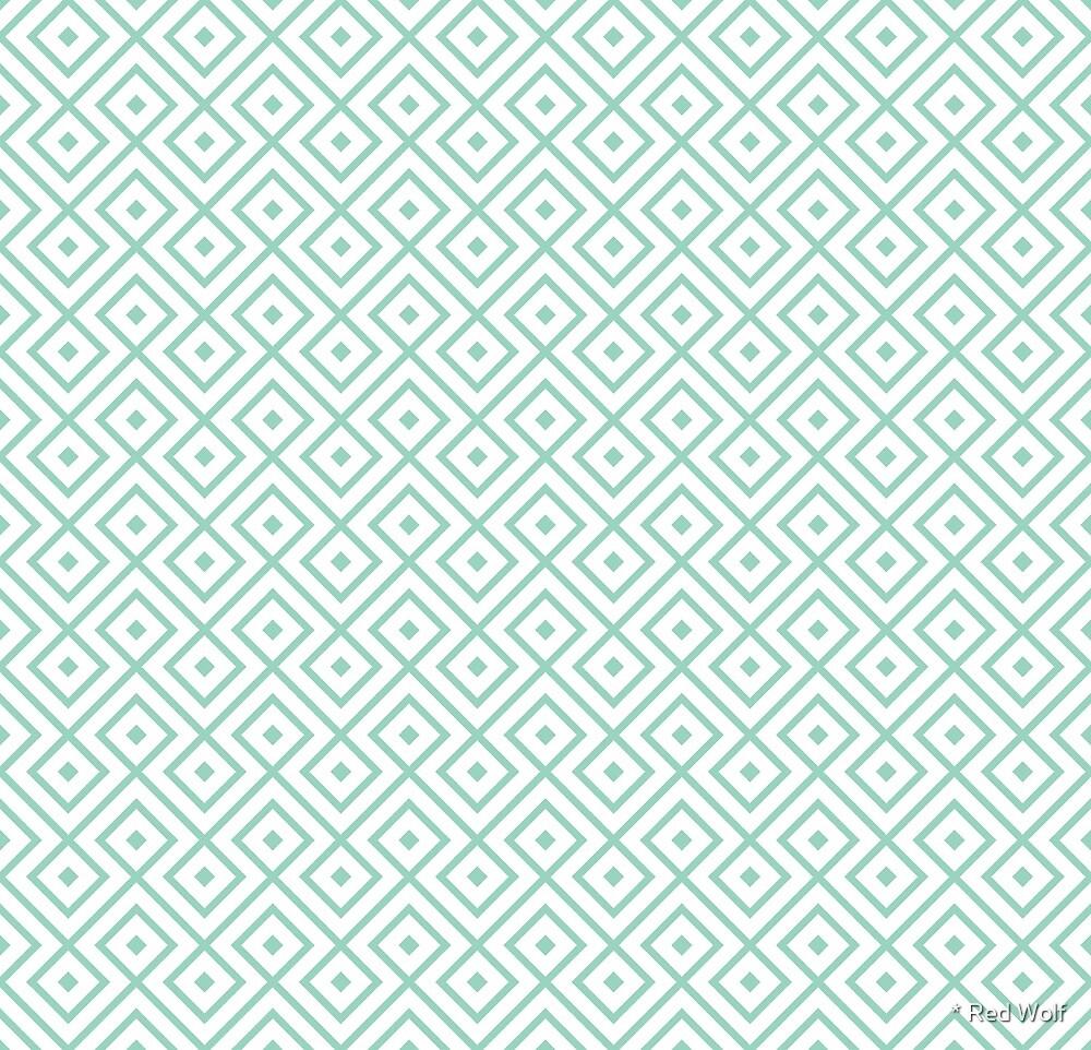 Geometric Pattern: Loop Diamond: Blue by * Red Wolf