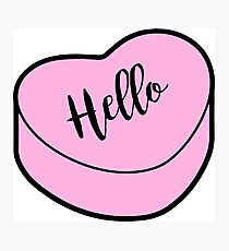 Love Hello | Pink Heart Candy | Conversation Photographic Print