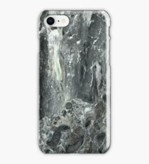 Classic grey marbled endpaper iPhone Case/Skin