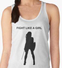 Fight like a girl Women's Tank Top
