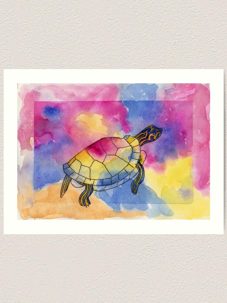 Alternate view of Painted Turtle Art Print