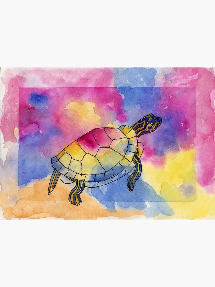 Painted Turtle by lindaursin