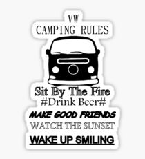camping rules Sticker