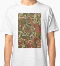 green, pink and cream swirled endpaper Classic T-Shirt
