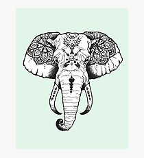 Elephant Tattooed Photographic Print