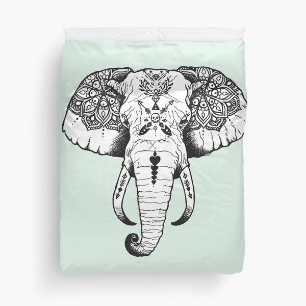 Elephant Tattooed Duvet Cover
