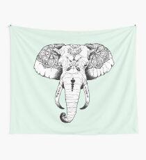Elephant Tattooed Wall Tapestry