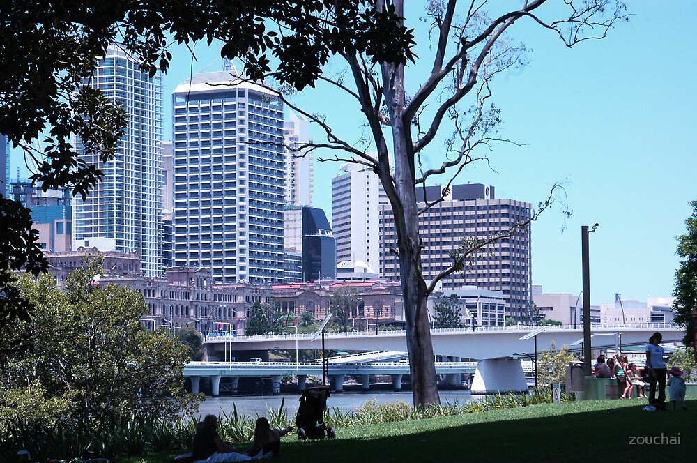 Brisbane from State Library by zouchai