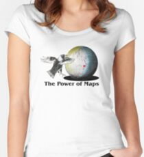 The Power of Maps Women's Fitted Scoop T-Shirt