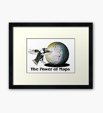 The Power of Maps Framed Print